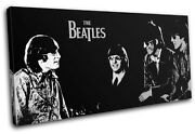 The Beatles Pop Abstract Musical Single Canvas Wall Art Picture Print Va