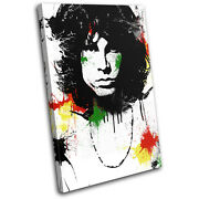 Jim Morrison Abstract Musical Single Canvas Wall Art Picture Print Va