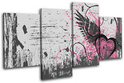 Abstract Grunge Vector Love Multi Canvas Wall Art Picture Print Va