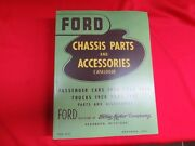 1928-48 Ford Chassis Parts Manual Catalog Green Bible Flathead Bk-1