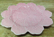 Bordallo Pinheiro Pink Cabbage No White Large Round Platter Chop Plate Majolica