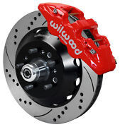Wilwood Disc Brake Kitfront64-74 Gm15 Drilled Rotorsred Aero 6 Calipers