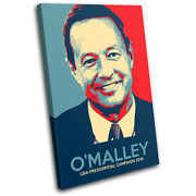 Us Politic Oand039malley Iconic Celebrities Single Canvas Wall Art Picture Print