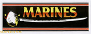 Two 2 Made In Us Marines Nco Sword Bumper Sticker Enlisted Saber Uscm Earned