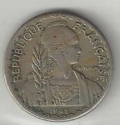 Indo-china French Colony 1941-s 10 Cents Copper Nickel Km21.1a