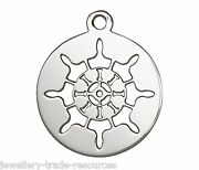 17mm Sterling Silver Ships Wheel Charm / Pendant For Jewellery Marking