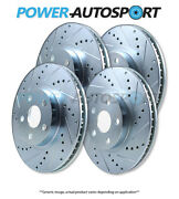Front+rear Power Performance Drilled Slotted Plated Brake Disc Rotors 45563ps
