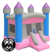 Commercial Bounce House 100 Pvc Princess Castle Jumper Inflatable Only - Girls