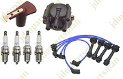 1985-1989 For Toyota Mr2 1.6l Distributor Cap And Rotor+ngk Spark Plug And Wires Set