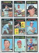 Lot Of 78 1971 Topps Autographed Signed Baseball Cards 16 Deceased