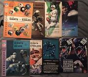 New York Giants 1965 Lot Of 7 Programs And 1 Yearbook Nfl Illustrated