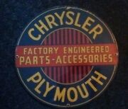 Chrysler Plymouth Parts Accessories Sign Porcelain Coated Ande Rooney Shop Decor