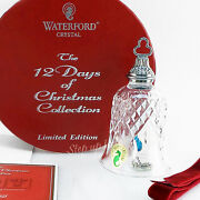 Waterford Crystal 7 Swans A Swimming 12 Days Of Xmas Bell Kenmare Ornament Seven