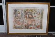 Signed Edna Hibel Lithograph 52x40 Aida 9th Series - 11 Of 16 Large Beautiful