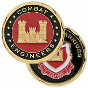 Army Combat Engineers Warriors Essayons 1.75 Challenge Coin