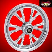 Harley Davidson 21 Inch Custom Chrome Front Wheel Exile By Ftd Customs