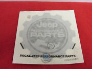 Jeep Wrangler Black And Silver Performance Parts Decal New Oem Mopar