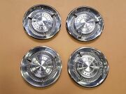 1960 60 Chrysler Imperial Hub Cap With Spinner 15 Wheel Covers Set Of 4