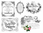Vintage French Advertising Labels Furniture Transfers Waterslide Decals Mis581