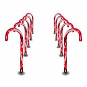 Prextex Christmas Candy Cane Pathway Markers 10 Indoor Outdoor Decoration Lights