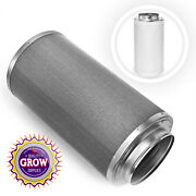 Hydroponic Carbon Air Filter With 8 Flange Odor Control Exhaust - 21.25 X 11 In