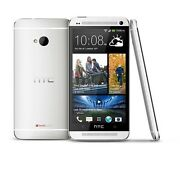 Htc One M7-silver Verizonr Smartphone Cell Phone Unlocked Atandt T-mobile 6500lv