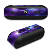 Skin Decal For Beats By Dr. Dre Beats Pill Plus / Purple Moon Galaxy