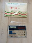 Vintage American Express Credit Card Solar Calculator Must See  Gorgeous Rare
