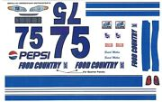 75 Butch Miller Pepsi Food Country Ford 1/24th - 1/25th Scale Waterslide Decals