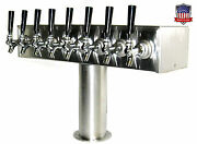 Stainless Steel Draft Beer Tower Made In Usa 8 Faucets - Air Cooled - Ttb-8ss