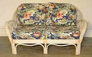 Replacement Cushions For Deep-seating Wicker/rattan Love Seat 4 Pc Set