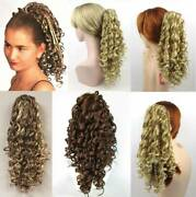 18 Long Spiral Corkscrew Curls Curly Hair Hairdo Hairpiece Ponytail Claw Clip