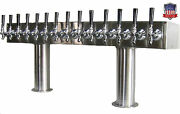 Stainless Steel Draft Beer Tower Made In Usa 14 Faucets Glycol Ready - Ptb-14ssg