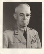 General Omar Bradley Wwii Hand Signed Autographed Photo W/coa