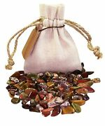 Animal Power Pouch Healing Crystals Stones Set Tumbled Natural Gemstones