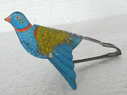 Vintage Mt Trademark Flying Bird Litho Tin Squeeze Toy Japan