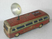 Rare Vintage Battery And039 Sonicon Bus And039 Litho Passenger Bus Tin Toy Japan