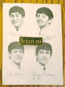 Beatles Tie Tac Pin On Card Collectible