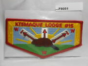 Ktemaque Lodge 15 Red Border 3 Sashes F8051