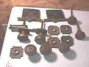 1905 Russell And Erwin Andros Brass Knobs And Plates- Cross