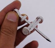Mens Huge Nail Pendant 3.60 Carat Diamonds Iced Out All Over Best Price On Ebay