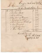 1862 Us Civil War Bill To Us Gov't For Clothing Supplies From Camp On North Fork