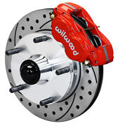 Wilwood Disc Brake Kitfront1950-1955 Mg Td Tf10.7 Drilled Rotorsred Calipers