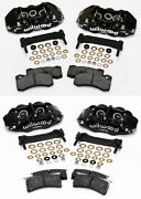 Wilwood Caliper,pad,and Bracket Kit,front And Rear,97-13 Corvette C-5,c-6,z06,black