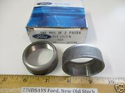 2 Pcs 1 Ford Box 1948/56 F1f2f3 And F100 Truck Cap U-joint Knuckle Dust Nos