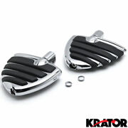 Touring Highway Wide Wing Foot Rests / Pegs For Honda Suzuki Can-am Motorcycles