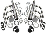 New Lake Style Header Kit With Turnoutsblackflat Head Ford 136-337hot Rodrat