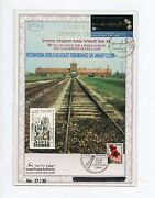 Israel 2008 Int'l Holocaust Remembrance Day Ovp'td Leaf 17/30 41c Un Ny Stamp