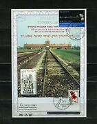 Israel 2008 Intand039l Holocaust Remembrance Day Ovpand039td Leaf 17/30 With Israel Stamp