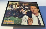 Huey Lewis And The News Signed + Framed Sports Vinyl Record Album